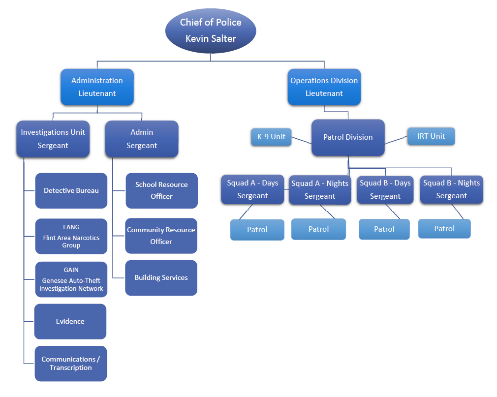 Flint Township Police Org Chart